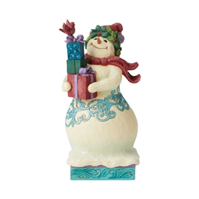 Heartwood Creek Snowman with Gifts Figurine by Jim Shore | 6004191