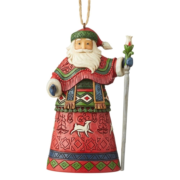 Heartwood Creek Lapland Santa with Staff Ornament by Jim Shore, 6004301