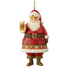 Heartwood Creek Craft Beer Santa Ornament by Jim Shore, 6004304