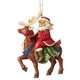 Heartwood Creek Santa Riding Reindeer Ornament by Jim Shore, 6004305