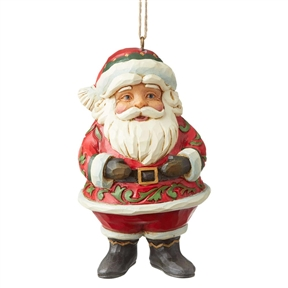 Heartwood Creek Mini Jolly Santa Ornament by Jim Shore, 6004310