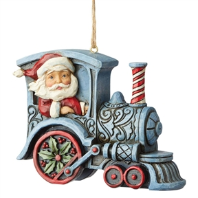 Heartwood Creek Santa in Train Engine Ornament by Jim Shore, 6004311