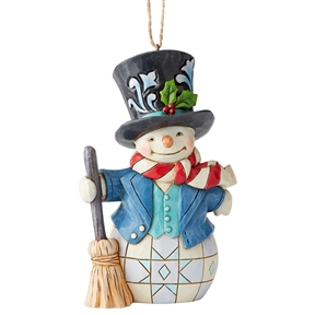Heartwood Creek Snowman with Top Hat Ornament by Jim Shore, 6004313