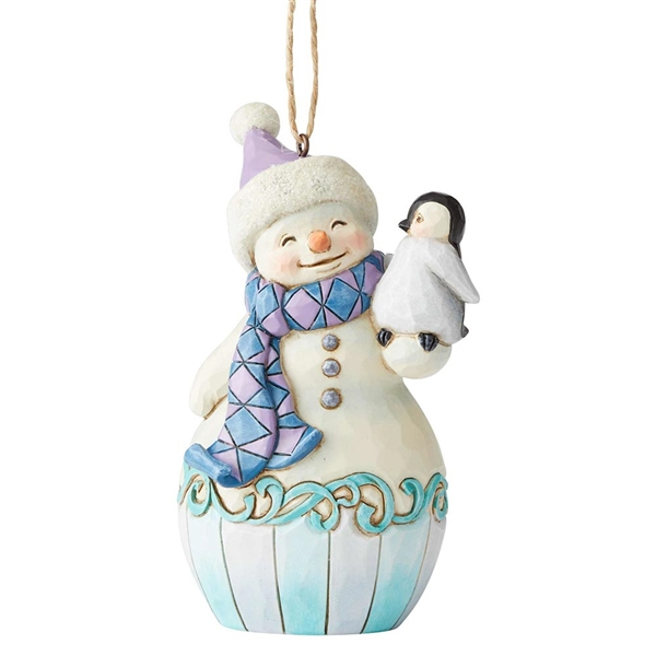 Heartwood Creek Snowman with Penguin Ornament by Jim Shore, 6004314