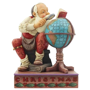 Heartwood Creek Santa with Globe Figurine by Jim Shore, 6004484