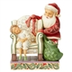 Norman Rockwell Santa Behind Chair by Child Heartwood Creek Figurine by Jim Shore, 6004489