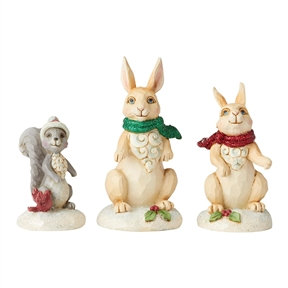 Christmas Winter Woodland Animals Set of 3 Figurine by Jim Shore | 6004989