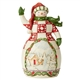 Heartwood Creek Red/Green Snowman with Cottage Scene by Jim Shore | 6005251