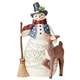 Heartwood Creek Snowman with Deer Figurine by Jim Shore | 6005913
