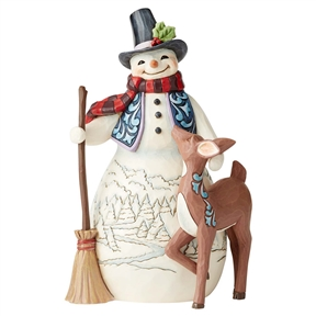 Heartwood Creek 4th Annual Snowman and Friends Figurine, 6005913