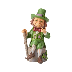 Heartwood Creek Leprechaun with Shamrocks Figurine by Jim Shore | 6006223