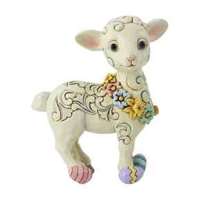 Heartwood Creek Pint Sized Lamb with Easter Eggs Figurine by Jim Shore, 6006231