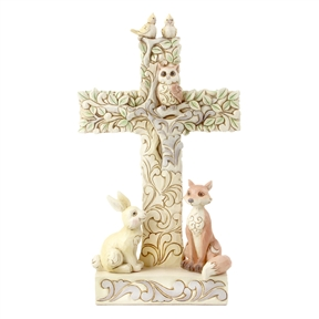 Heartwood Creek Cross with Woodland Animals by Jim Shore | 6006236