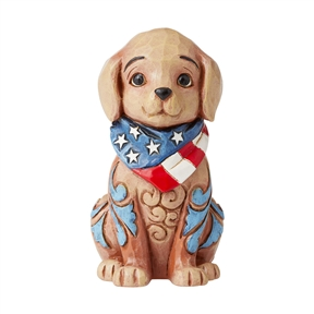 Heartwood Creek Mini Patriotic Puppy Figurine, 6006442
