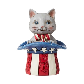 Heartwood Creek Mini Patriotic Kitten Figurine, 6006443