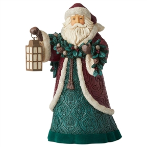 Heartwood Creek Victorian Santa with Garland Figurine by Jim Shore, 6006596