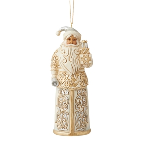 Heartwood Creek Holiday Lustre Santa with Bell Ornament, 6006618
