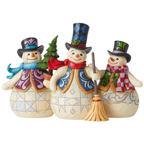Heartwood Creek Three Snowmen Together Figurine by Jim Shore, 6006647