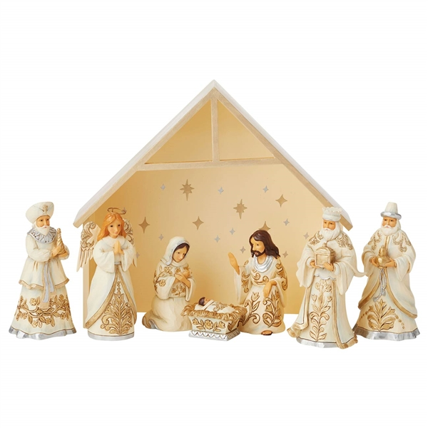 Heartwood Creek Holiday Lustre 8pc Nativity Set, 6006651