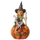 Heartwood Creek Witch Sitting on Pumpkin, 6006702