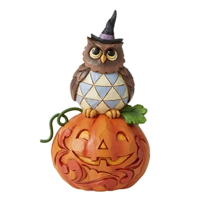 Heartwood Creek Mini Owl with Pumpkin, 6006704