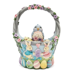 Heartwood Creek Set o 5 Easter Basket with Eggs by Jim Shore | 6006990