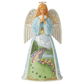 Heartwood Creek Rainbow Bridge Angel Figurine by Jim Shore, 6008762