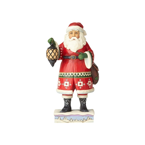 Heartwood Creek Santa with Lantern and Satchel Figurine