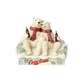 Coca Cola Polar Bear Couple Enjoying a Coke Figurine by Jim Shore 4059475