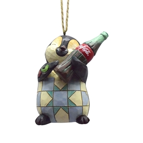 Coca Cola Penguin with Bottle of Coke Hanging Ornament by Jim Shore 4059721