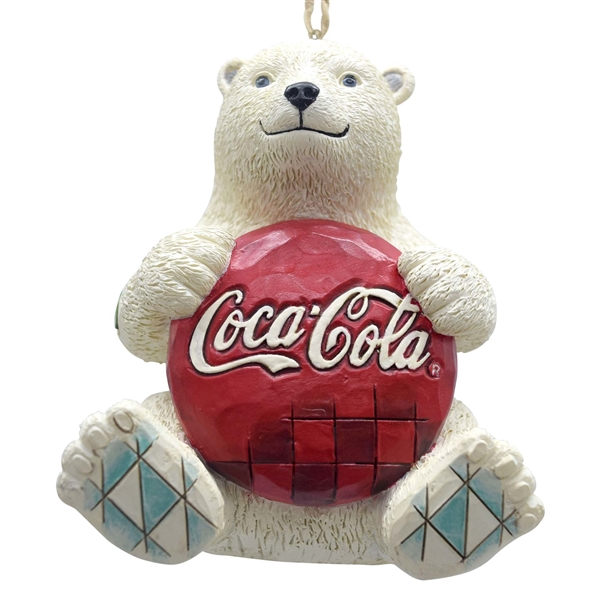 Coca Cola Polar Bear with Coke Logo Hanging Ornament by Jim Shore, 4059722