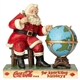 Coca-Cola Santa and Globe Figurine by Jim Shore, 6000998