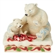 Mama and Baby Polar Bears Opening Gift of Coca-Cola Figurine by Jim Shore