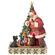 Santa Claus with Coke Hushing Dog by Tree Figurine by Jim Shore