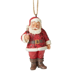Santa Claus with Coca-Cola Ornament by Jim Shore