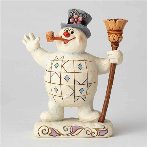 Frosty the Snowman with Broom Figurine by Jim Shore 6001578