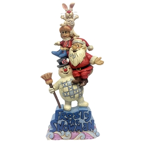Stacked Frosty and Friends Figurine by Jim Shore