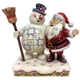 Frosty  the Snowman Hugging Santa Figurine by Jim Shore 6001584