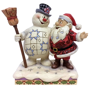 Frosty Hugging Santa Figurine by Jim Shore
