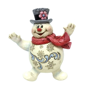 Jolly Frosty the Snowman Ornament by Jim Shore 6001585