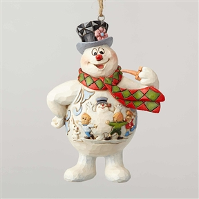 Frosty with Kid Scene Ornament by Jim Shore 6001586