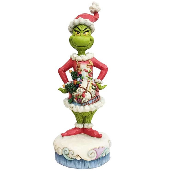 Grinch With Santa Scene Figurine By Jim Shore 6002065 Flossie S Gifts And Collectibles