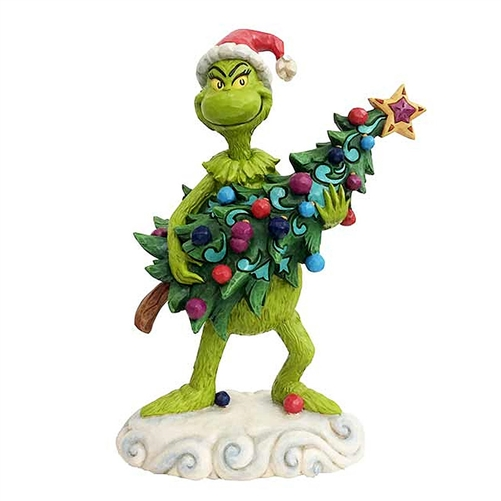 Grinch Stealing Christmas Tree Figurine