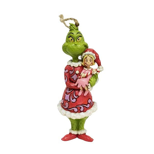Grinch Holding Cindy Ornament by Jim Shore 6002072