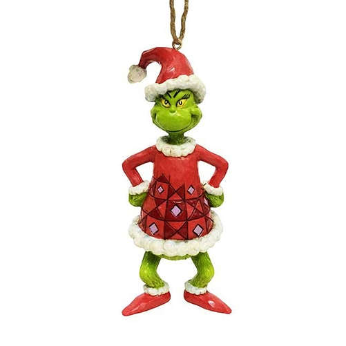 Grinch Dressed as Santa Claus Ornament by Jim Shore