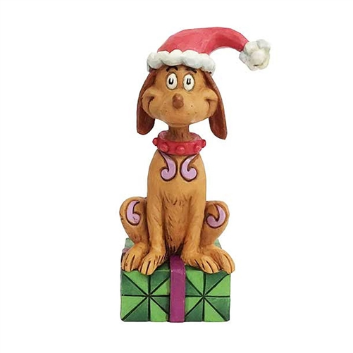Max with Santa Hat Grinch Figurine by Jim Shore 6002075