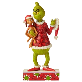 Grinch Holding Max Figurine by Jim Shore, 6006570