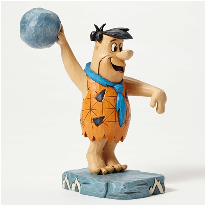 Heartwood Creek Fred Flintstone Bowling Figurine by Jim Shore