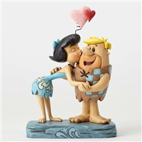 Heartwood Creek Betty Kissing Barney Figurine by Jim Shore