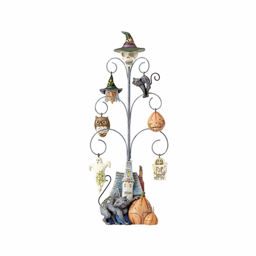 Heartwood Creek Halloween Tree with 6 Mini Ornaments by Jim Shore